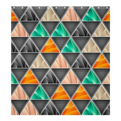 Abstract Geometric Triangle Shape Shower Curtain 66  X 72  (large)