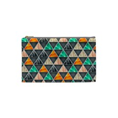 Abstract Geometric Triangle Shape Cosmetic Bag (Small)