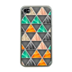 Abstract Geometric Triangle Shape Apple Iphone 4 Case (clear)
