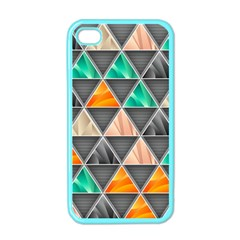 Abstract Geometric Triangle Shape Apple iPhone 4 Case (Color)