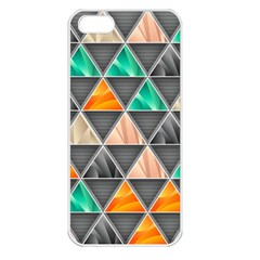 Abstract Geometric Triangle Shape Apple Iphone 5 Seamless Case (white)