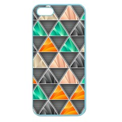 Abstract Geometric Triangle Shape Apple Seamless iPhone 5 Case (Color)