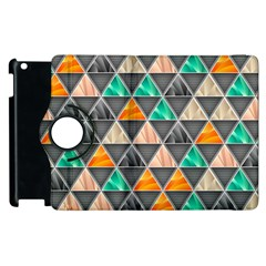 Abstract Geometric Triangle Shape Apple Ipad 2 Flip 360 Case