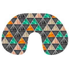 Abstract Geometric Triangle Shape Travel Neck Pillows