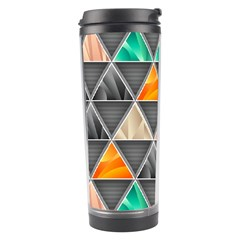 Abstract Geometric Triangle Shape Travel Tumbler
