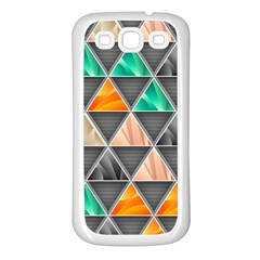 Abstract Geometric Triangle Shape Samsung Galaxy S3 Back Case (white)