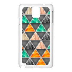 Abstract Geometric Triangle Shape Samsung Galaxy Note 3 N9005 Case (White)