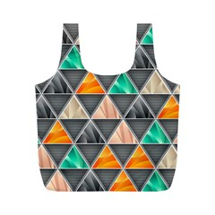 Abstract Geometric Triangle Shape Full Print Recycle Bags (m)