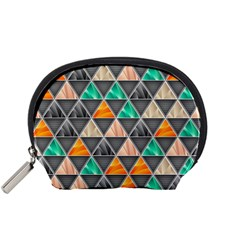 Abstract Geometric Triangle Shape Accessory Pouches (small)