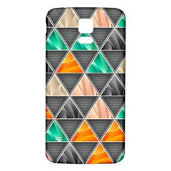 Abstract Geometric Triangle Shape Samsung Galaxy S5 Back Case (white)