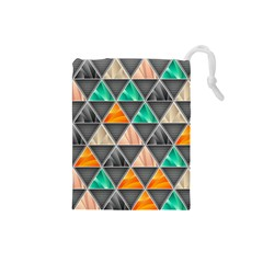 Abstract Geometric Triangle Shape Drawstring Pouches (small)
