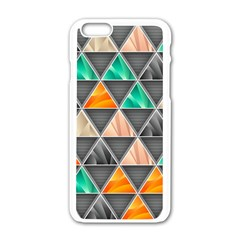 Abstract Geometric Triangle Shape Apple Iphone 6/6s White Enamel Case