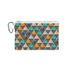 Abstract Geometric Triangle Shape Canvas Cosmetic Bag (s)