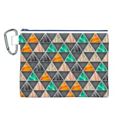 Abstract Geometric Triangle Shape Canvas Cosmetic Bag (l)