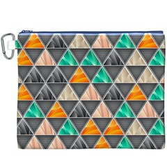 Abstract Geometric Triangle Shape Canvas Cosmetic Bag (xxxl)