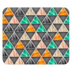 Abstract Geometric Triangle Shape Double Sided Flano Blanket (small)