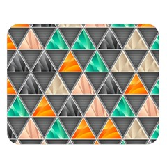 Abstract Geometric Triangle Shape Double Sided Flano Blanket (Large)