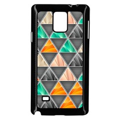 Abstract Geometric Triangle Shape Samsung Galaxy Note 4 Case (Black)