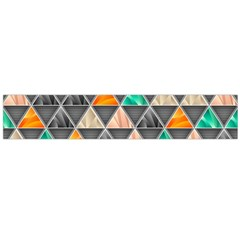 Abstract Geometric Triangle Shape Flano Scarf (Large)
