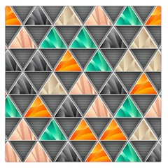 Abstract Geometric Triangle Shape Large Satin Scarf (Square)