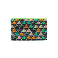 Abstract Geometric Triangle Shape Cosmetic Bag (xs)