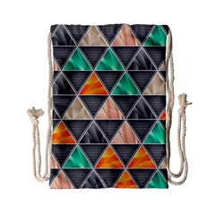 Abstract Geometric Triangle Shape Drawstring Bag (small)