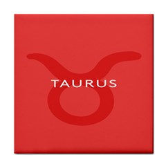 Zodizc Taurus Red Tile Coasters