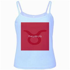Zodizc Taurus Red Baby Blue Spaghetti Tank