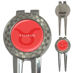 Zodizc Taurus Red 3-in-1 Golf Divots