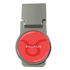 Zodizc Taurus Red Money Clips (Round)