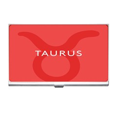Zodizc Taurus Red Business Card Holders