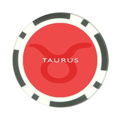 Zodizc Taurus Red Poker Chip Card Guard