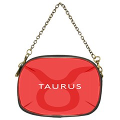 Zodizc Taurus Red Chain Purses (Two Sides)