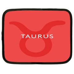 Zodizc Taurus Red Netbook Case (XXL)
