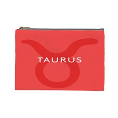 Zodizc Taurus Red Cosmetic Bag (Large)