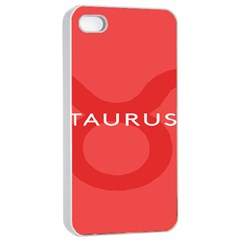 Zodizc Taurus Red Apple iPhone 4/4s Seamless Case (White)