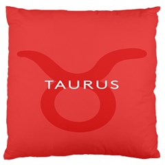 Zodizc Taurus Red Standard Flano Cushion Case (Two Sides)