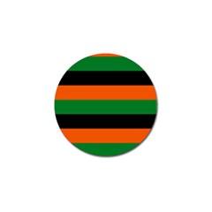 Color Green Orange Black Golf Ball Marker (4 pack)