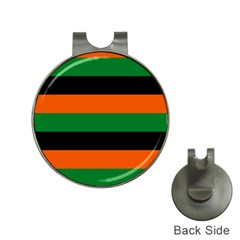 Color Green Orange Black Hat Clips with Golf Markers