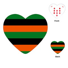Color Green Orange Black Playing Cards (Heart)