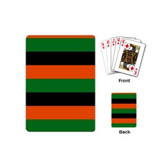 Color Green Orange Black Playing Cards (Mini)