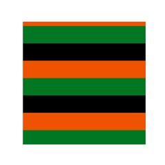 Color Green Orange Black Small Satin Scarf (Square)