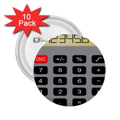 Calculator 2.25  Buttons (10 pack)
