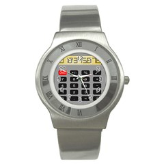 Calculator Stainless Steel Watch