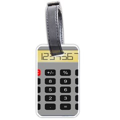 Calculator Luggage Tags (One Side)