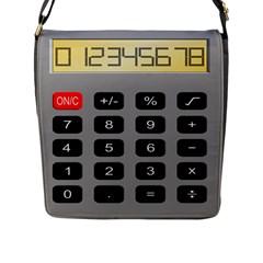 Calculator Flap Messenger Bag (L)