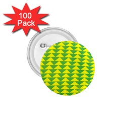 Arrow Triangle Green Yellow 1.75  Buttons (100 pack)