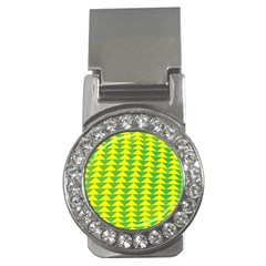 Arrow Triangle Green Yellow Money Clips (CZ)