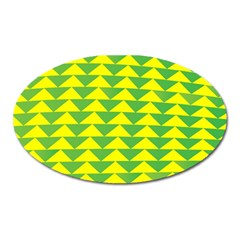 Arrow Triangle Green Yellow Oval Magnet