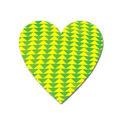 Arrow Triangle Green Yellow Heart Magnet
